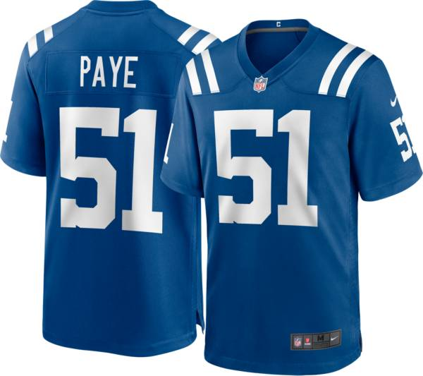 Nike Men's Indianapolis Colts Kwity Paye #51 Blue Game Jersey product image