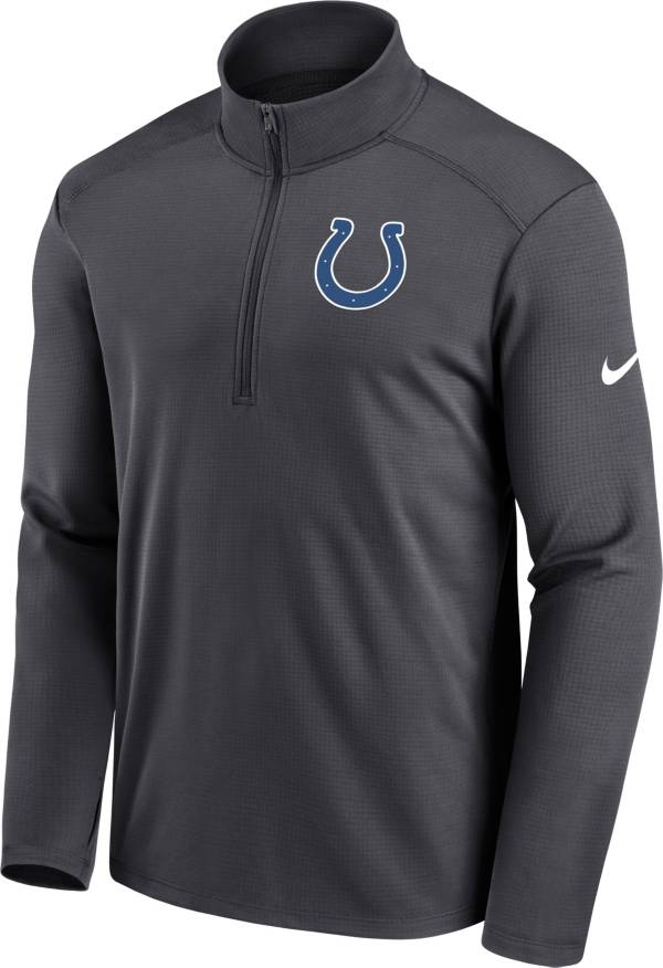 Nike Men's Indianapolis Colts Logo Pacer Grey Half-Zip Pullover product image