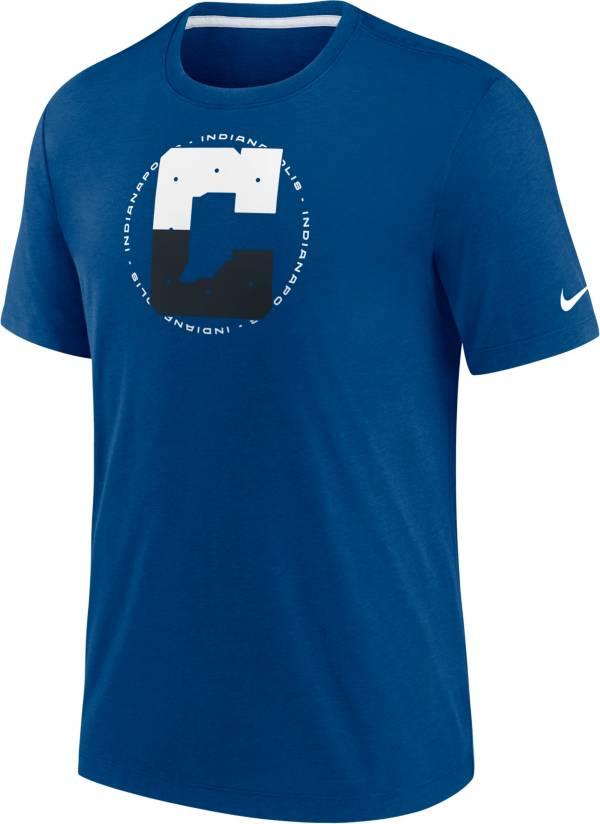 Nike Men's Indianapolis Colts Impact Tri-Blend Blue T-Shirt product image