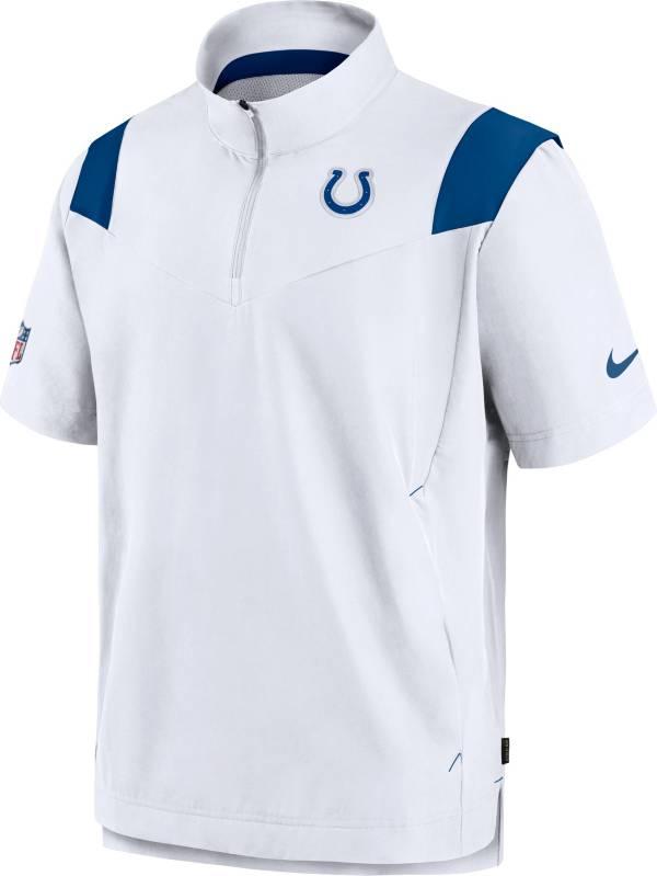 Nike Men's Indianapolis Colts Coaches Sideline Short Sleeve White Jacket product image