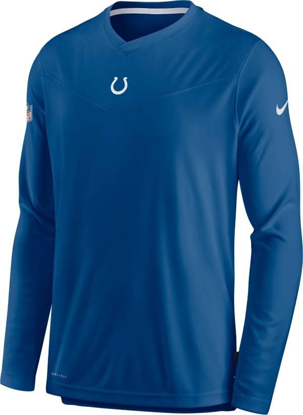 Nike Men's Indianapolis Colts Sideline Coaches Blue Long Sleeve T-Shirt product image