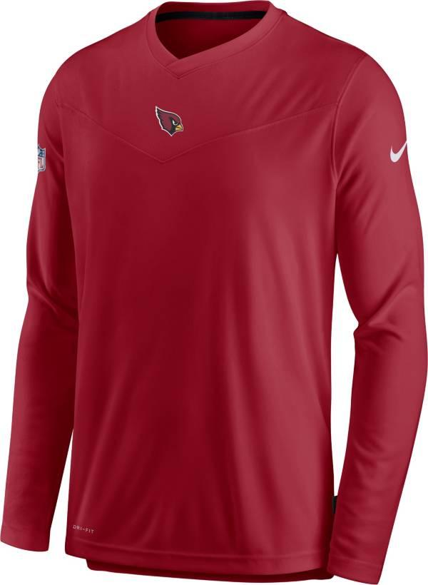 Nike Men's Arizona Cardinals Sideline Coaches Red Long Sleeve T-Shirt product image