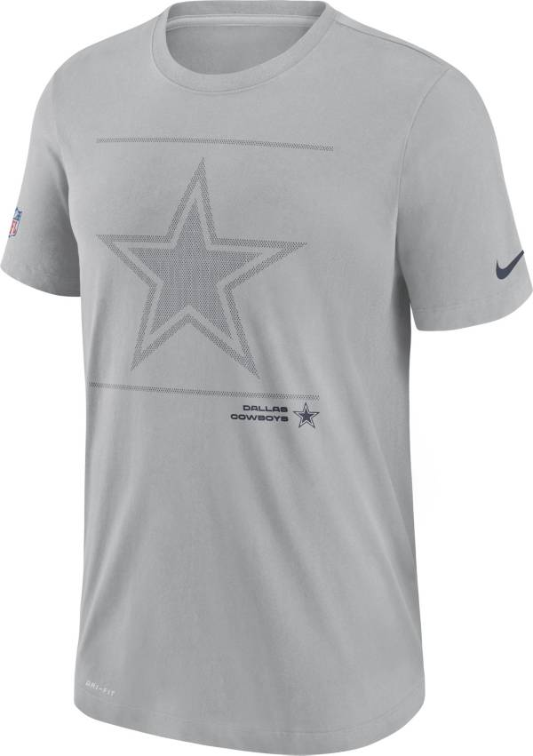Nike Men's Dallas Cowboys Sideline Team Issue Grey Performance T-Shirt product image