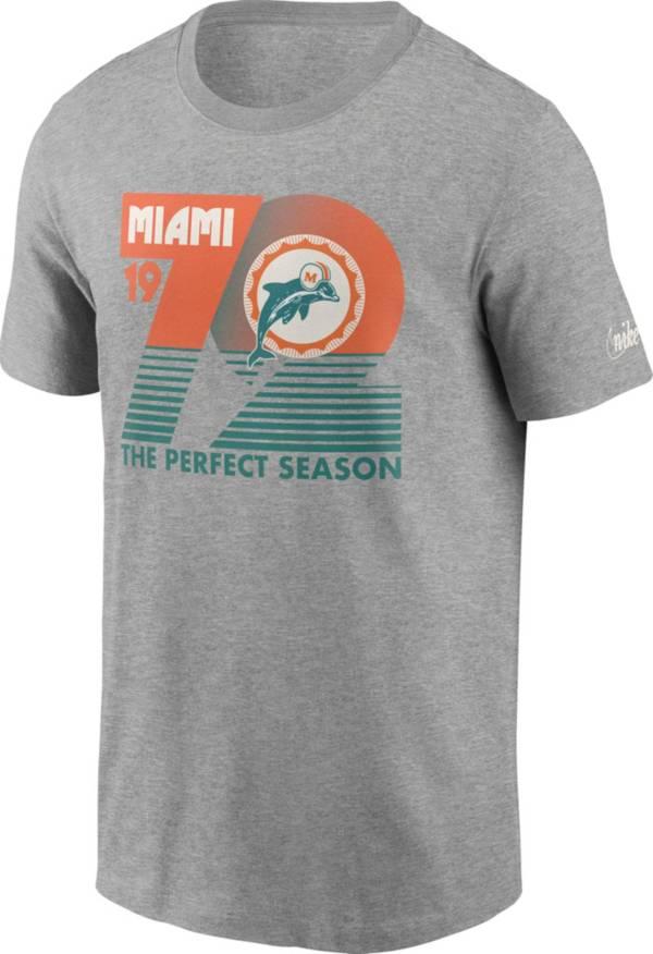 Nike Men's Miami Dolphins 72 Retro Grey T-Shirt product image