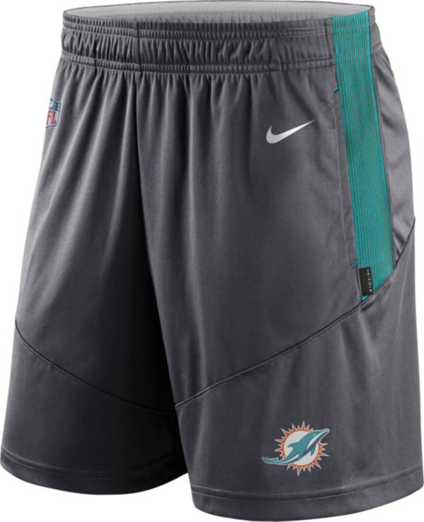 Nike Men's Miami Dolphins Sideline Dri-FIT Anthracite Performance Shorts product image