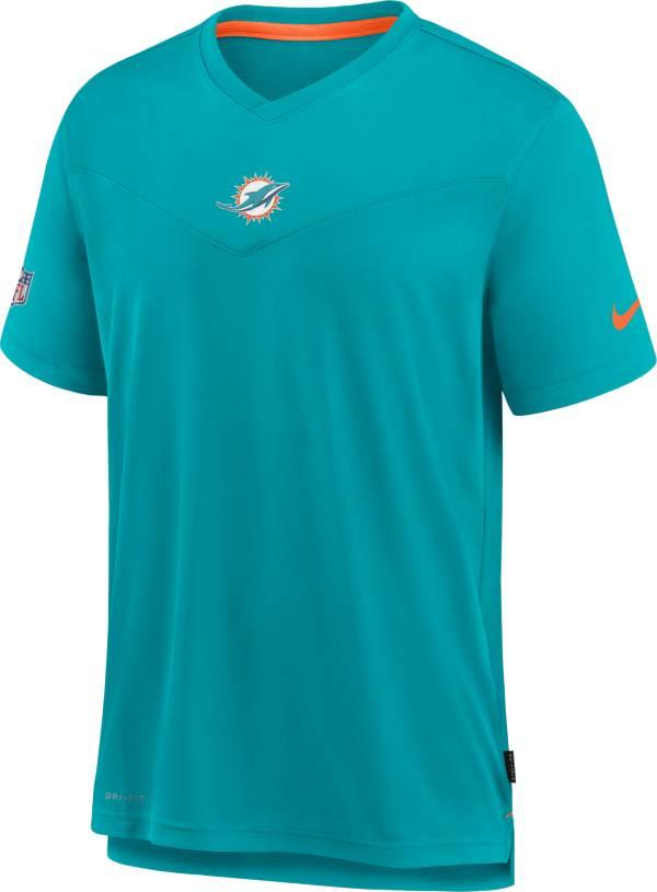 Nike Men's Miami Dolphins Sideline Coaches Aqua T-Shirt product image
