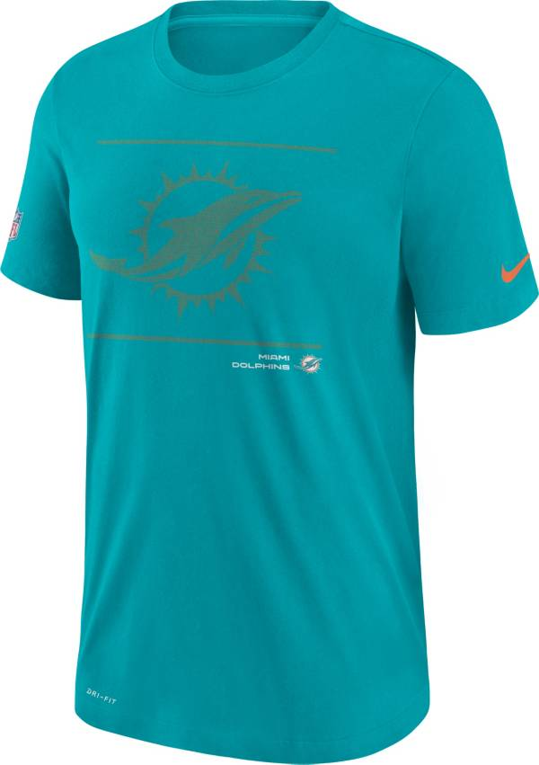 Nike Men's Miami Dolphins Sideline Team Issue Green Performance T-Shirt product image