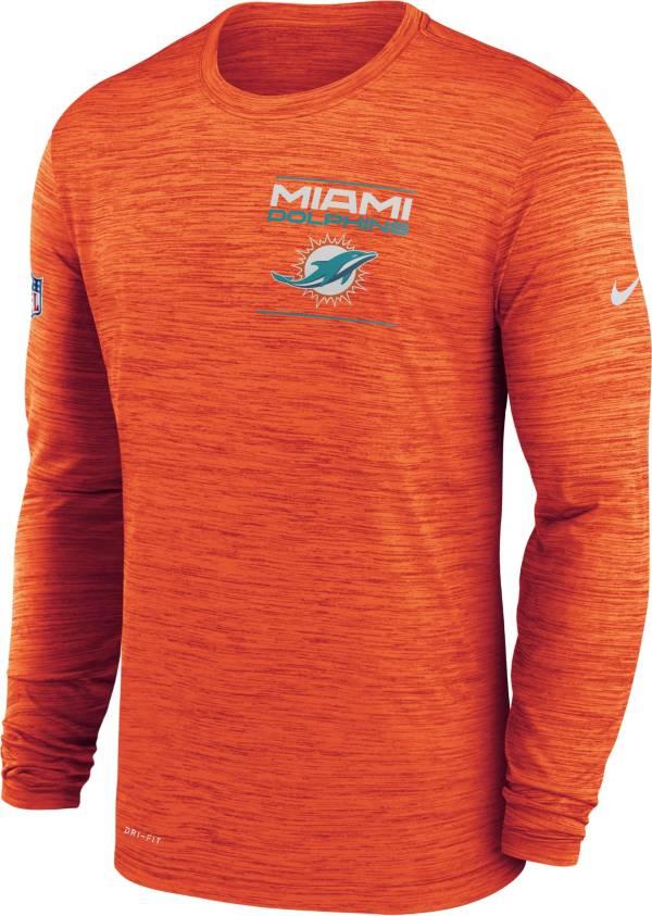 Nike Men's Miami Dolphins Sideline Legend Velocity Orange Long Sleeve T-Shirt product image