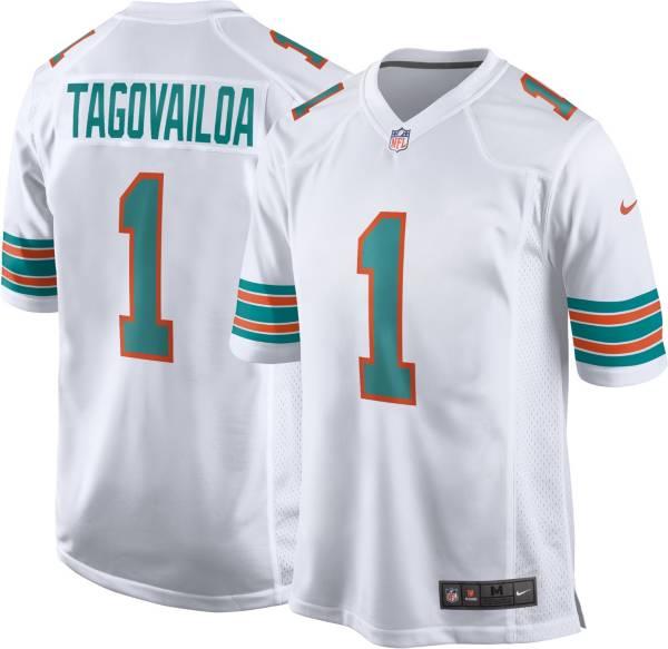 Nike Men's Miami Dolphins Tua Tagovailoa #1 White Game Jersey product image