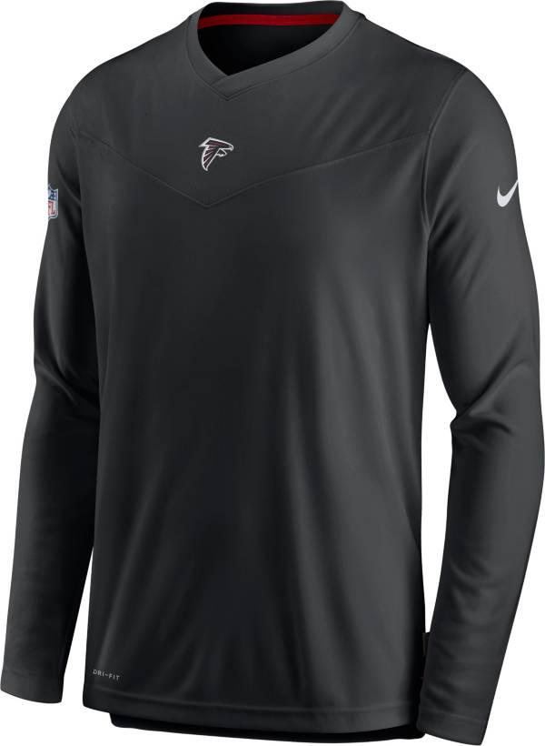 Nike Men's Atlanta Falcons Sideline Coaches Black Long Sleeve T-Shirt product image