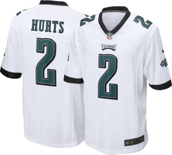 Nike Men's Philadelphia Eagles Jalen Hurts #2 White Game Jersey