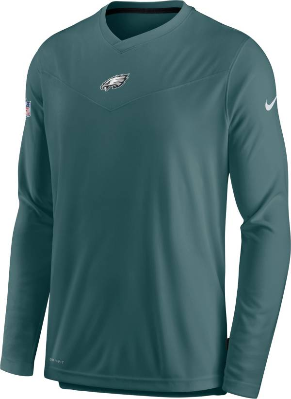 Nike Men's Philadelphia Eagles Sideline Coaches Teal Long Sleeve T-Shirt product image