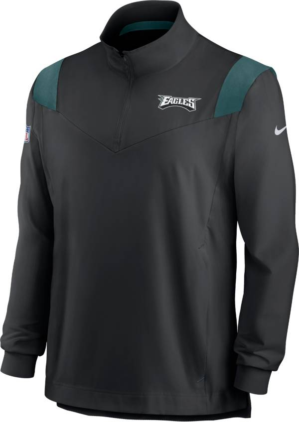 Nike Men's Philadelphia Eagles Coaches Sideline Long Sleeve Black Jacket product image