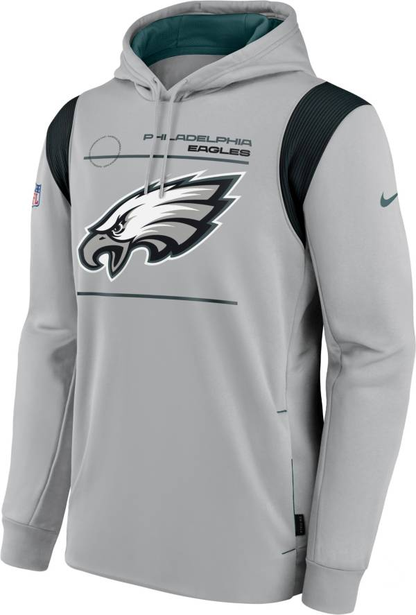 Nike Men's Philadelphia Eagles Sideline Therma-FIT Silver Pullover Hoodie product image