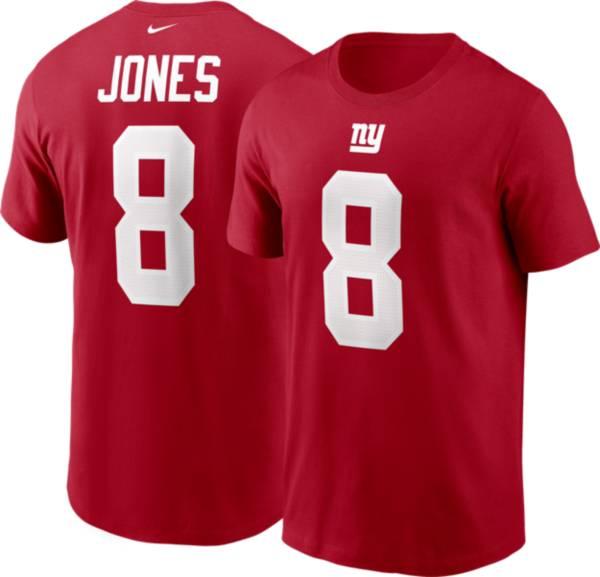Nike Men's New York Giants Daniel Jones #8 Red T-Shirt product image