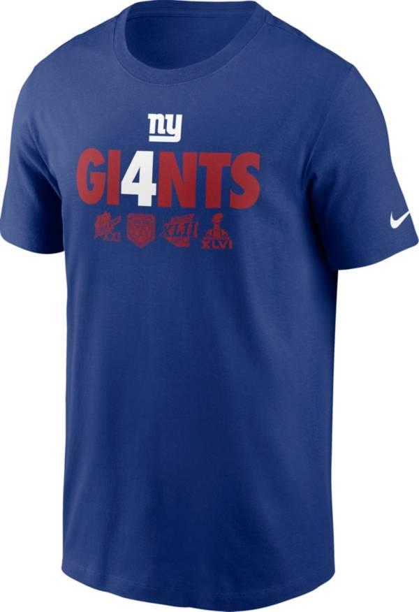 Nike Men's New York Giants Gi4ants Blue T-Shirt product image