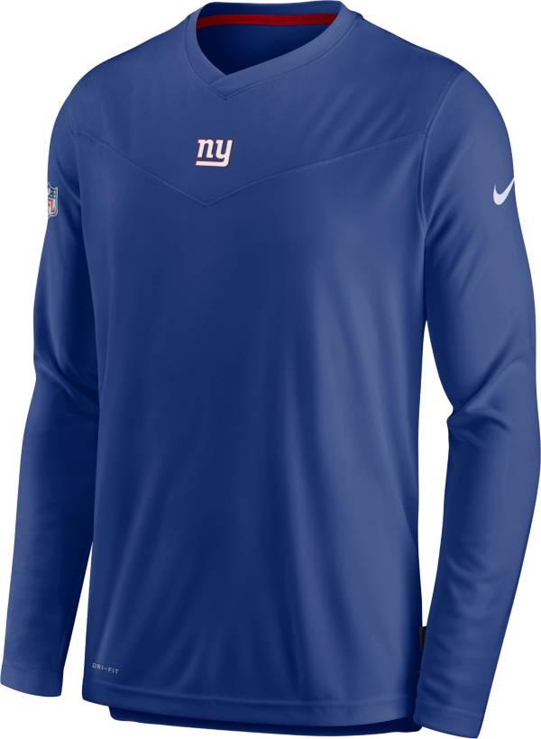 Nike Men's New York Giants Sideline Coaches Blue Long Sleeve T-Shirt product image