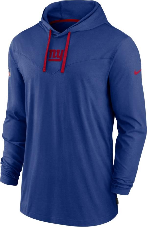 Nike Men's New York Giants Sideline Dri-FIT Hooded Long Sleeve Blue T-Shirt product image