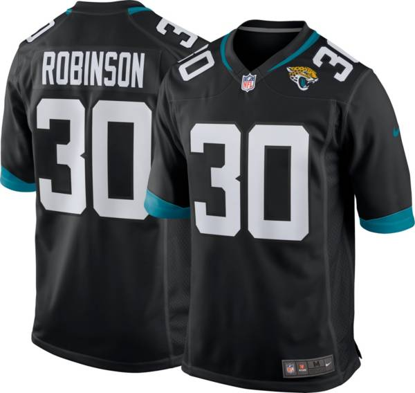 Nike Men's Jacksonville Jaguars Jerome Robinson #30 Black Game Jersey product image
