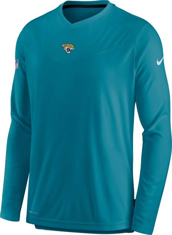 Nike Men's Jacksonville Jaguars Sideline Coaches Teal Long Sleeve T-Shirt product image