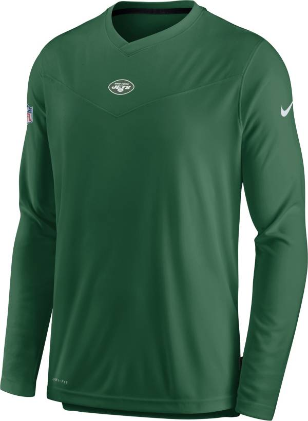 Nike Men's New York Jets Sideline Coaches Green Long Sleeve T-Shirt product image