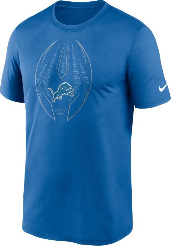 Nike Men's Detroit Lions Legend Icon Blue Performance T-Shirt product image