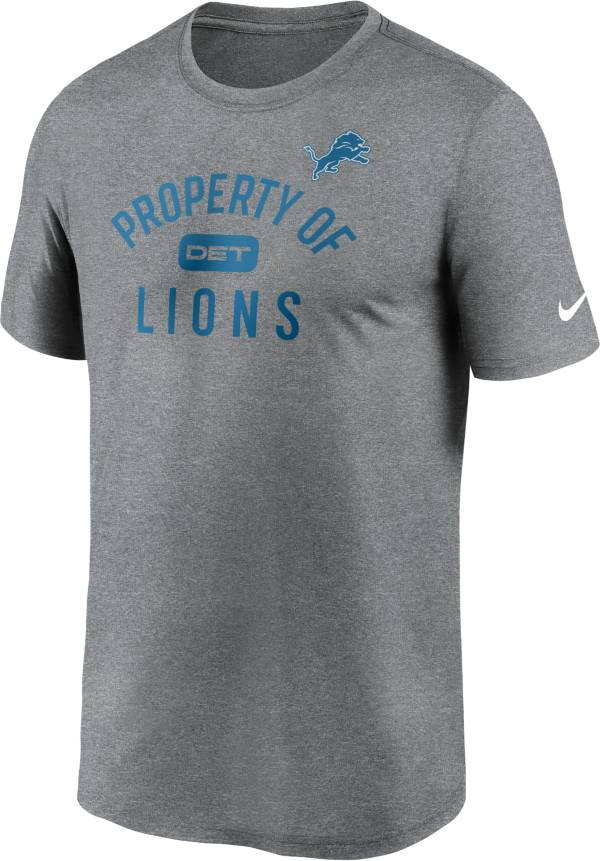 Nike Men's Detroit Lions Legend 'Property Of' Grey T-Shirt product image