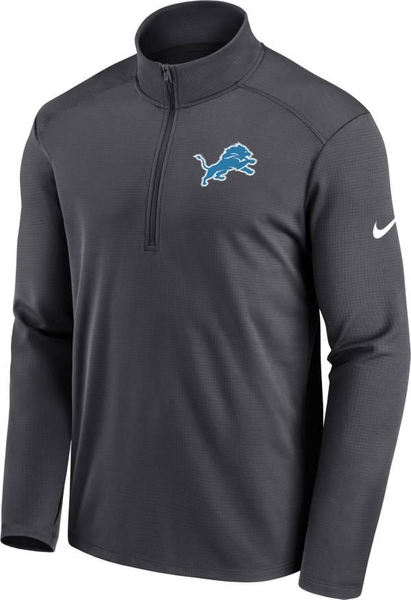Nike Men's Detroit Lions Logo Pacer Grey Half-Zip Pullover product image