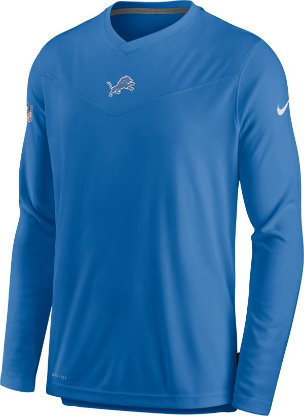 Nike Men's Detroit Lions Sideline Coaches Blue Long Sleeve T-Shirt product image