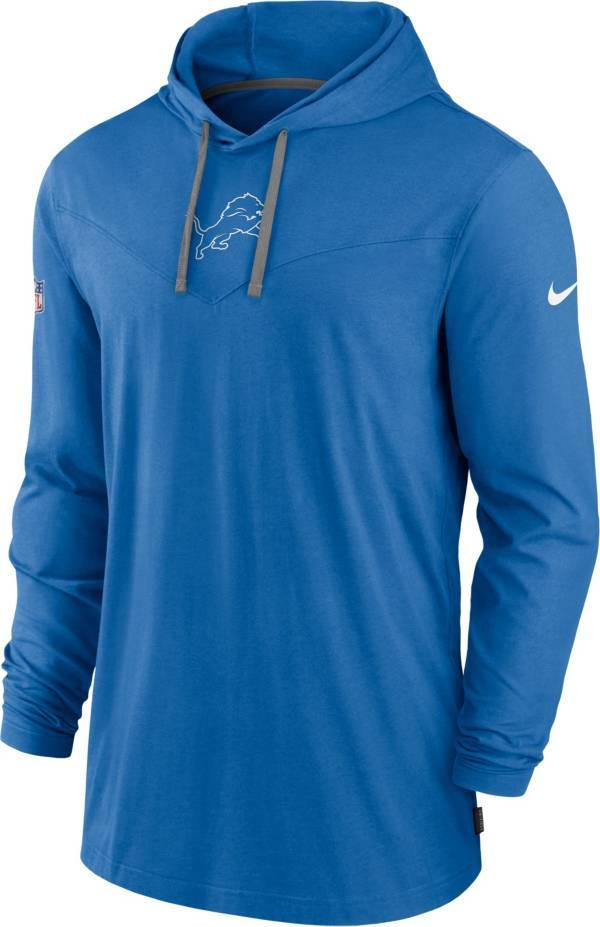 Nike Men's Detroit Lions Sideline Dri-FIT Hooded Long Sleeve Blue T-Shirt product image