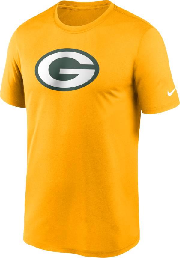 Nike Men's Green Bay Packers Legend Logo Gold T-Shirt product image