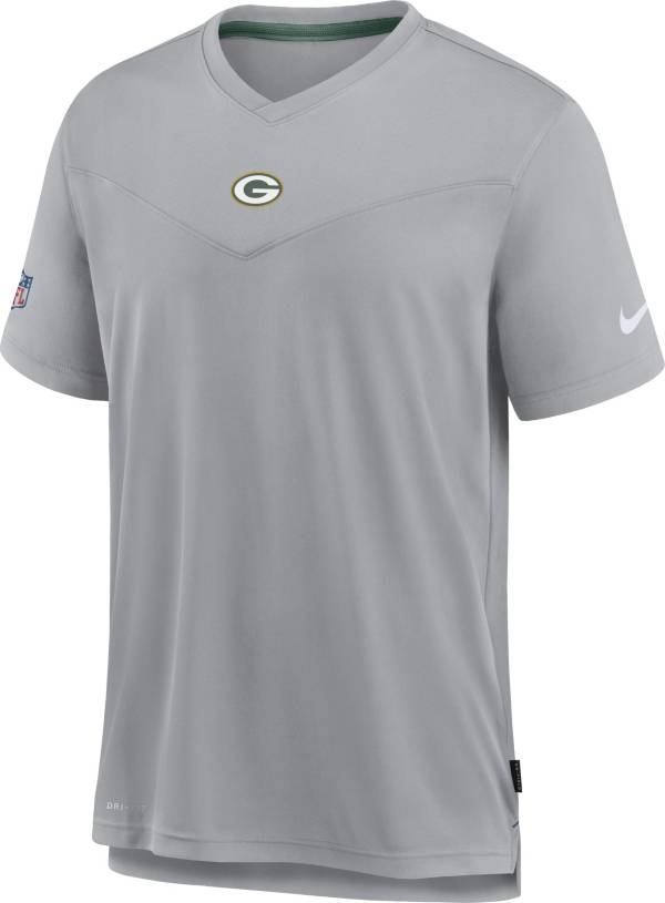 Nike Men's Green Bay Packers Sideline Coaches Silver T-Shirt product image