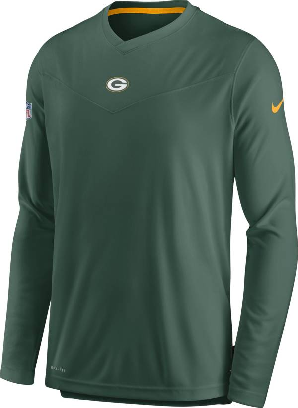 Nike Men's Green Bay Packers Sideline Coaches Green Long Sleeve T-Shirt product image