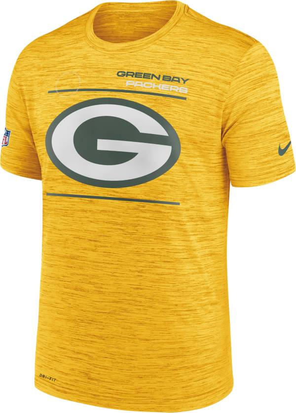 Nike Men's Green Bay Packers Sideline Legend Velocity Gold T-Shirt product image