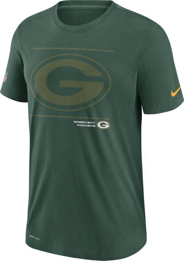 Nike Men's Green Bay Packers Sideline Team Issue Green Performance T-Shirt product image