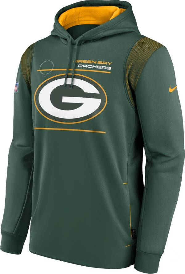Nike Men's Green Bay Packers Sideline Therma-FIT Greem Pullover Hoodie product image
