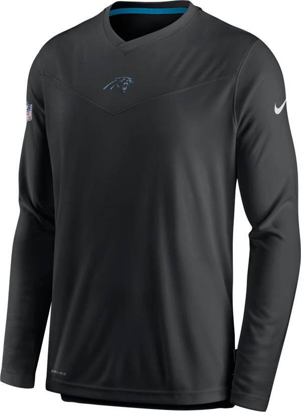 Nike Men's Carolina Panthers Sideline Coaches Black Long Sleeve T-Shirt product image