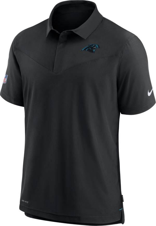 Nike Men's Carolina Panthers Sideline Coaches Black Polo product image