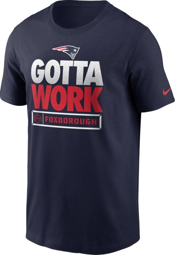 Nike Men's New England Patriots Gotta Work Essential Navy T-Shirt product image