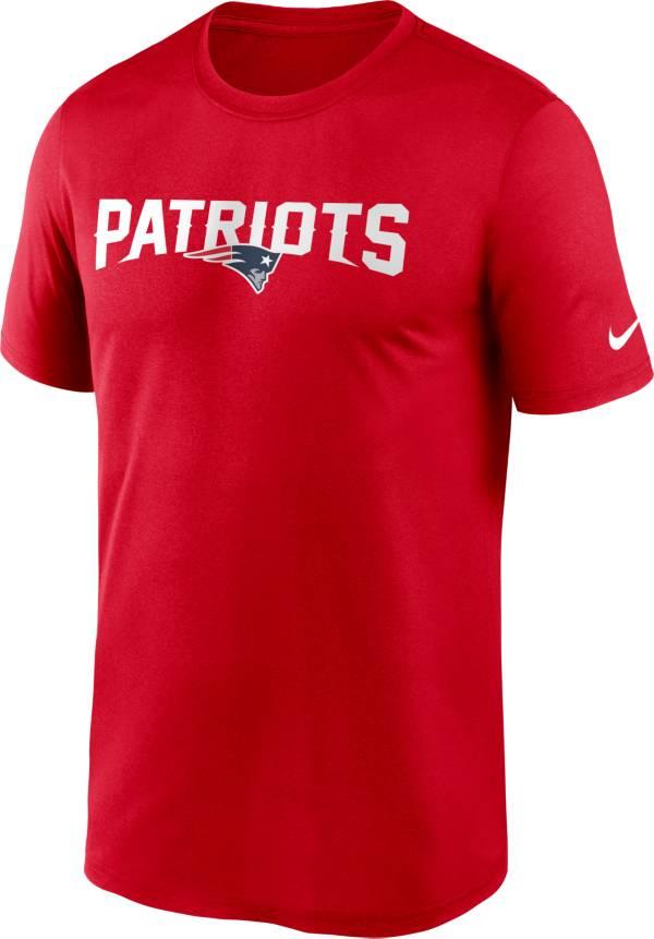 Nike Men's New England Patriots Legend Wordmark Red Performance T-Shirt product image