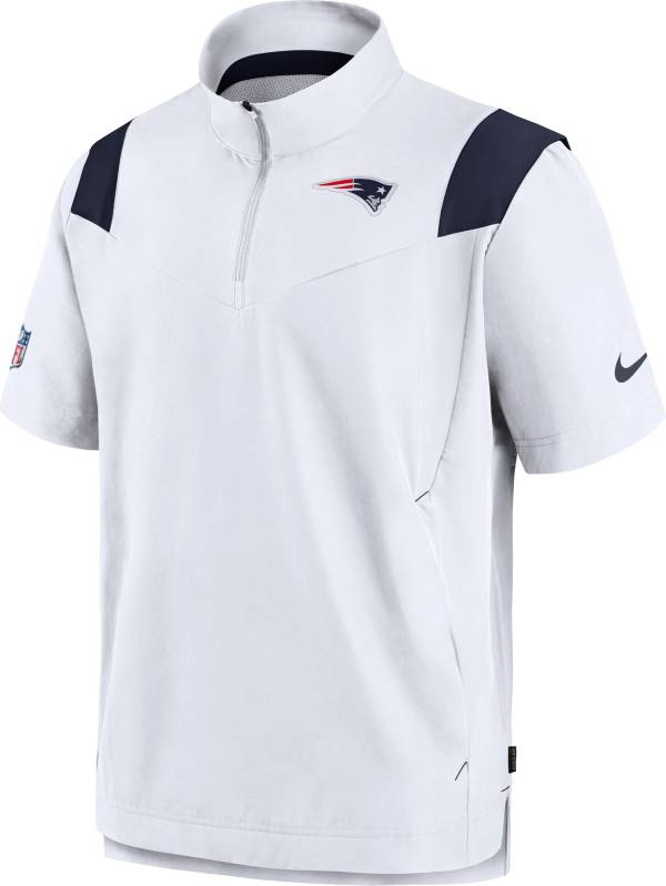 Nike Men's New England Patriots Coaches Sideline Short Sleeve White Jacket product image