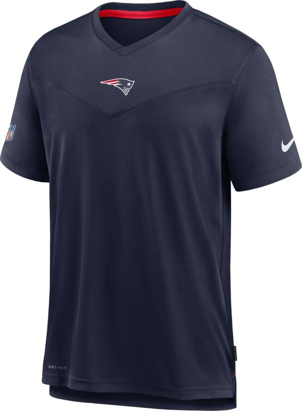 Nike Men's New England Patriots Sideline Coaches Navy T-Shirt product image