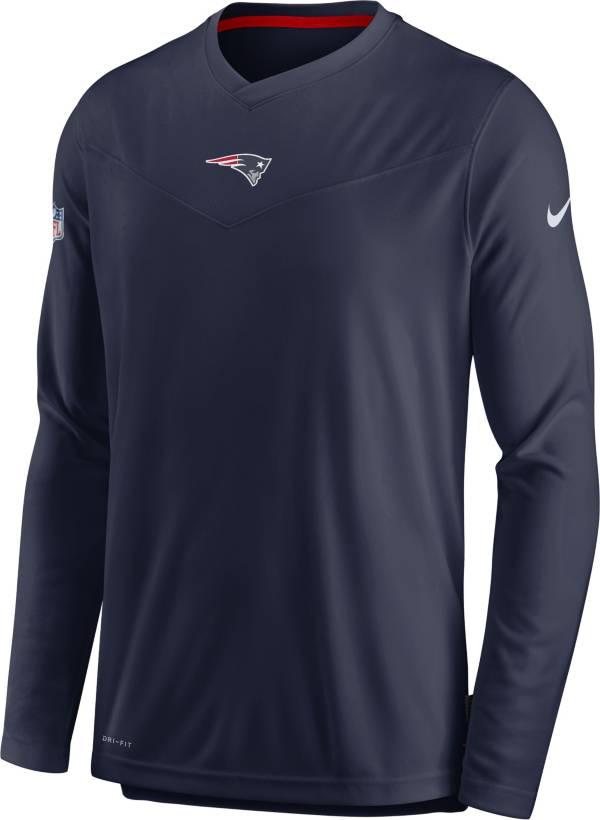 Nike Men's New England Patriots Sideline Coaches Navy Long Sleeve T-Shirt product image
