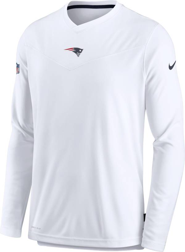 Nike Men's New England Patriots Sideline Coaches White Long Sleeve T-Shirt product image