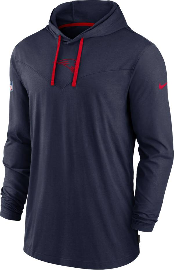 Nike Men's New England Patriots Sideline Dri-FIT Hooded Long Sleeve Navy T-Shirt product image