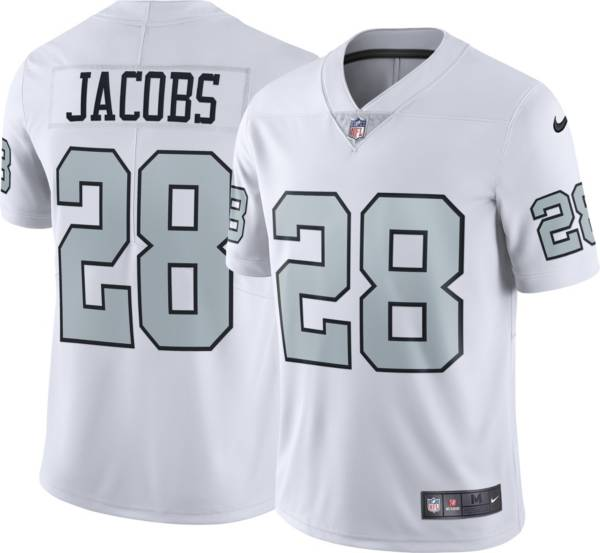 Nike Men's Las Vegas Raiders Josh Jacobs #28 White Alternate Limited Jersey product image