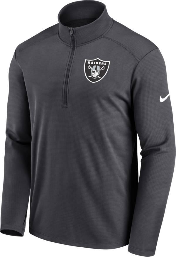 Nike Men's Las Vegas Raiders Logo Pacer Grey Half-Zip Pullover product image
