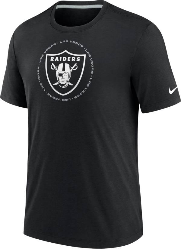 Nike Men's Las Vegas Raiders Impact Tri-Blend Black T-Shirt product image