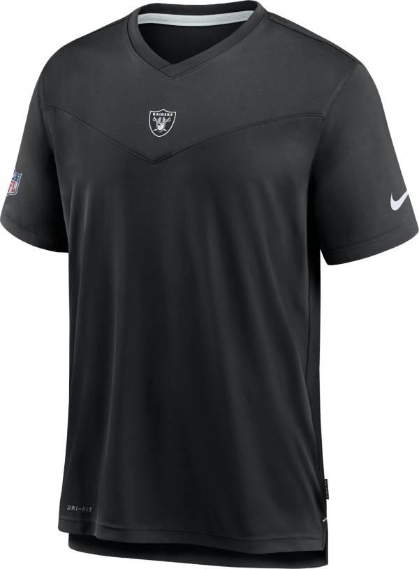 Nike Men's Las Vegas Raiders Sideline Coaches Black T-Shirt product image