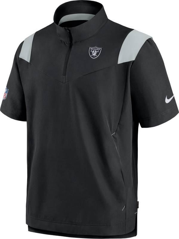 Nike Men's Las Vegas Raiders Coaches Sideline Short Sleeve Black Jacket product image